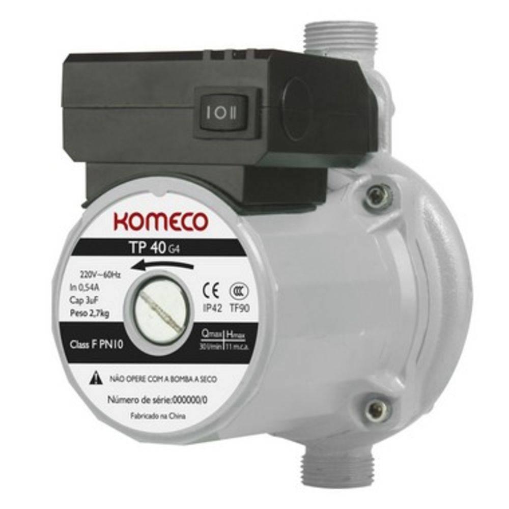 Bomba pressurizador Komeco tp 40 G4 - ferro - 220V
