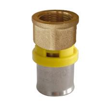 Conector de crimpagem para gás Femea 16 x 1/2 Maygas