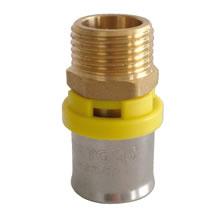 Conector de crimpagem para gás macho 20 x 1/2 Maygas