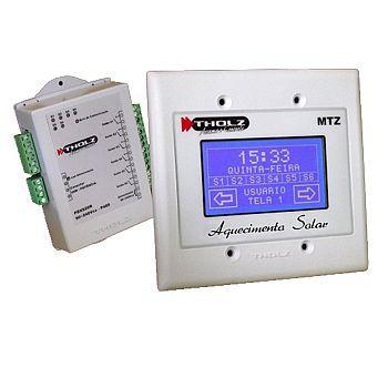 Controlador para sistema de aquecimento solar Tholz MTZ Touch Screen c/ 3 sensores