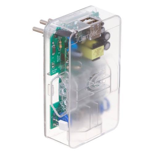 DPS 3P 10A 3 Tomadas + 2 USB Transparente iClamper