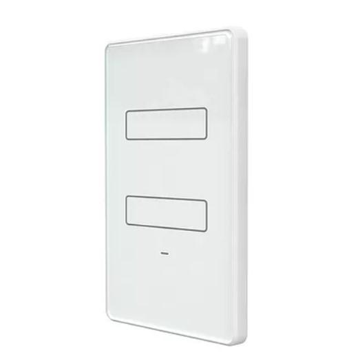 Interruptor 2 teclas inteligente Touch Wi-Fi Branco AGL
