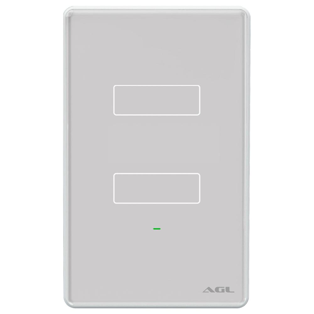 Interruptor 2 teclas inteligente Touch Wi-Fi Cinza AGL