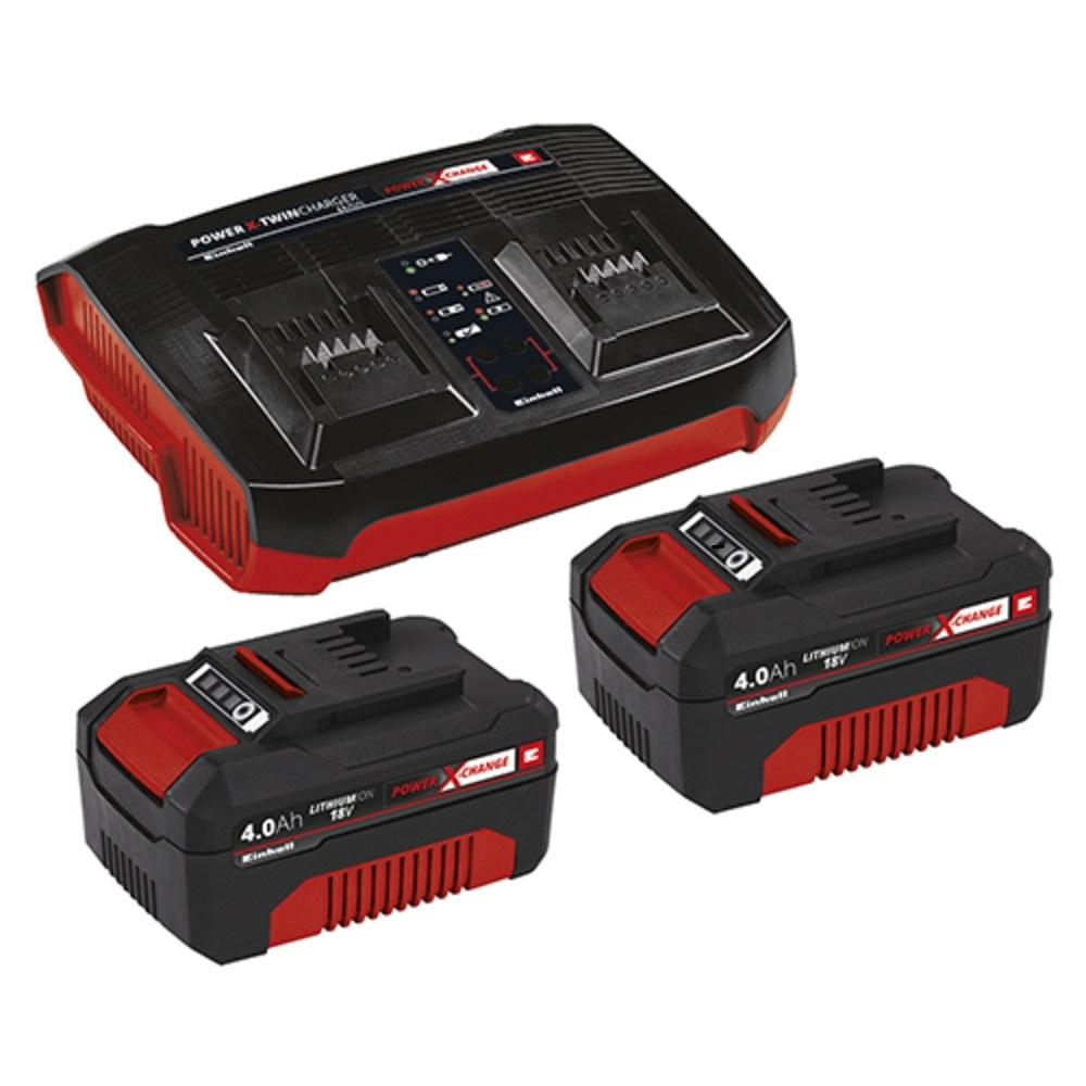 Kit Carregador Duplo C/2 Baterias 4ah - Pxc Twincharger Bivolt Einhell