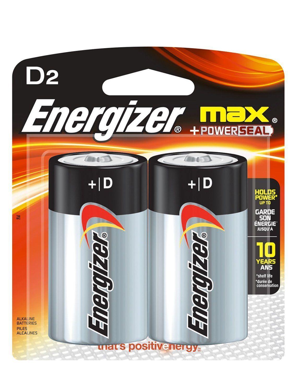 Pilha Alcalina Energizer Mas D2