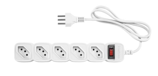 Protetor eletrônico com 5 tomadas EPE 205+ Intelbras Branco