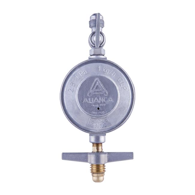 Regulador de pressão para gás 503/09 1Kg/h Segundo Estágio Cinza Aliança