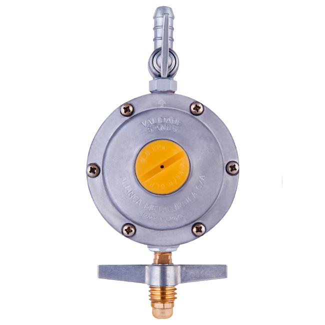 Regulador de Pressão para gás 506/01 2Kg/h Estágio Único Cinza Aliança