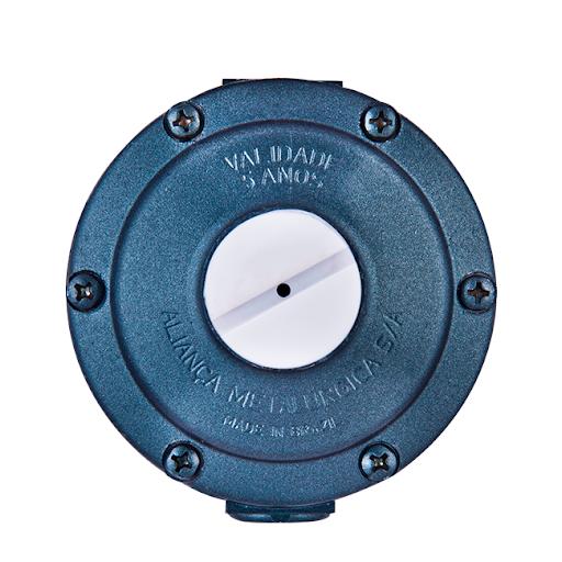 Regulador de pressão para gás 506/03 7Kg/h Estágio Único azul Aliança
