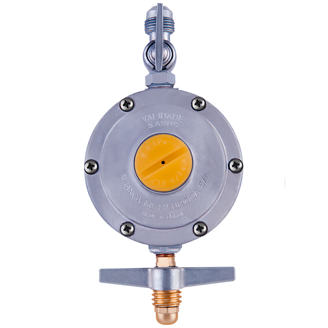 Regulador de Pressão para gás 506/09 2Kg/h Segundo Estágio Cinza Aliança