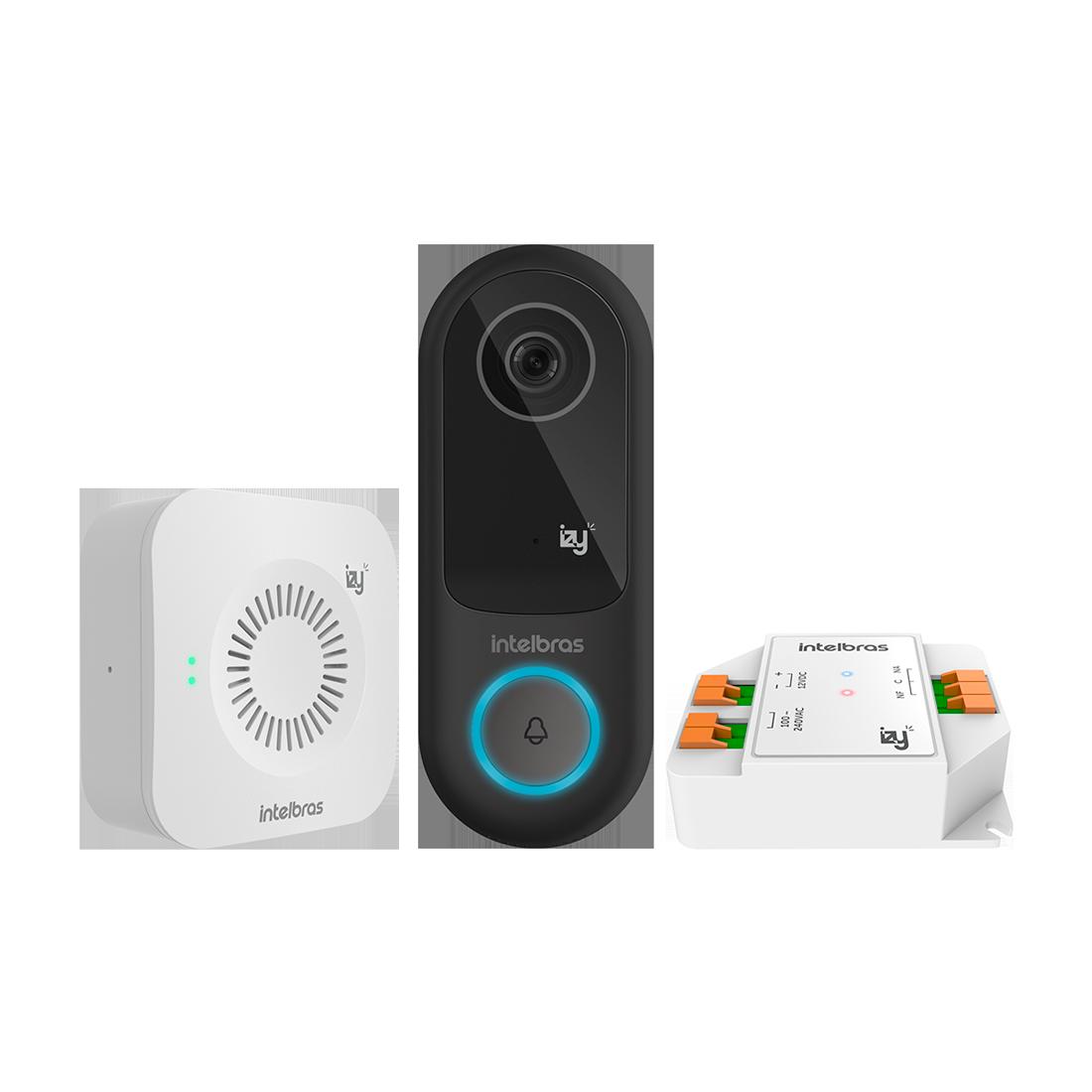 Video porteiro Smarth IVW3000 + IZY com modulo acionador Intelbras