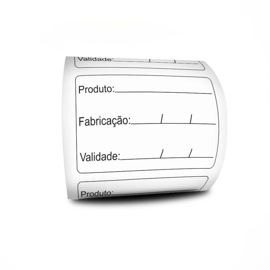 10 Rolos Etiqueta Adesiva 60x40 Prazo De Validade BOPP mm Milheiro  3 Linhas