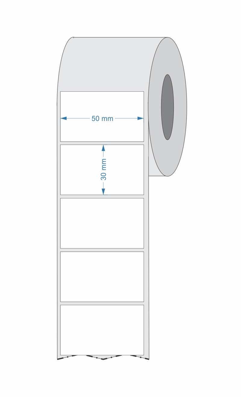 10 Rolos Etiqueta para laboratório 50x30 Mm Couchê 1 Coluna