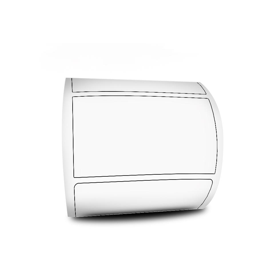 Etiquetas Adesivas 100x50 BOPP PEROLADO Personalizado 2 cores + 5 Ribbons Resina Branco - 10 Rolos