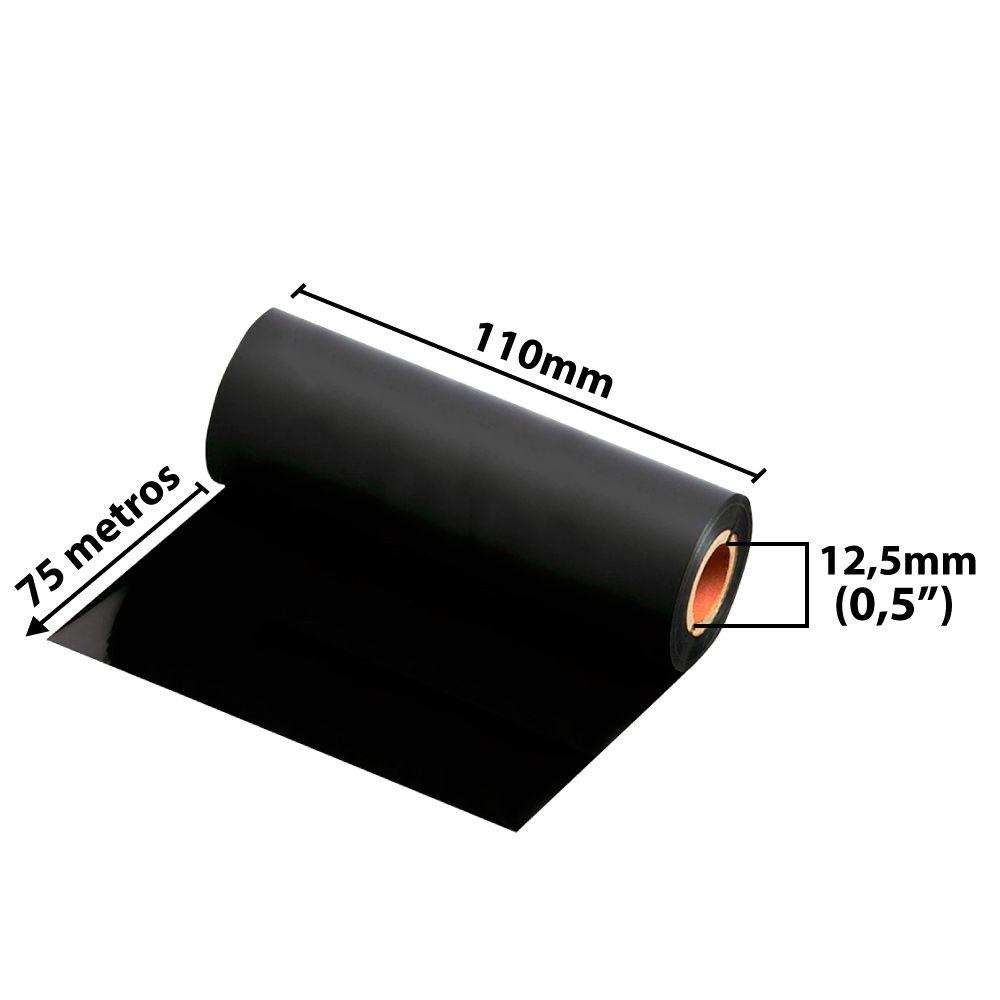 Etiqueta Adesiva 100x50 BOPP FOSCO 10 Rolos 32 Mts + 5 Ribbons Resina