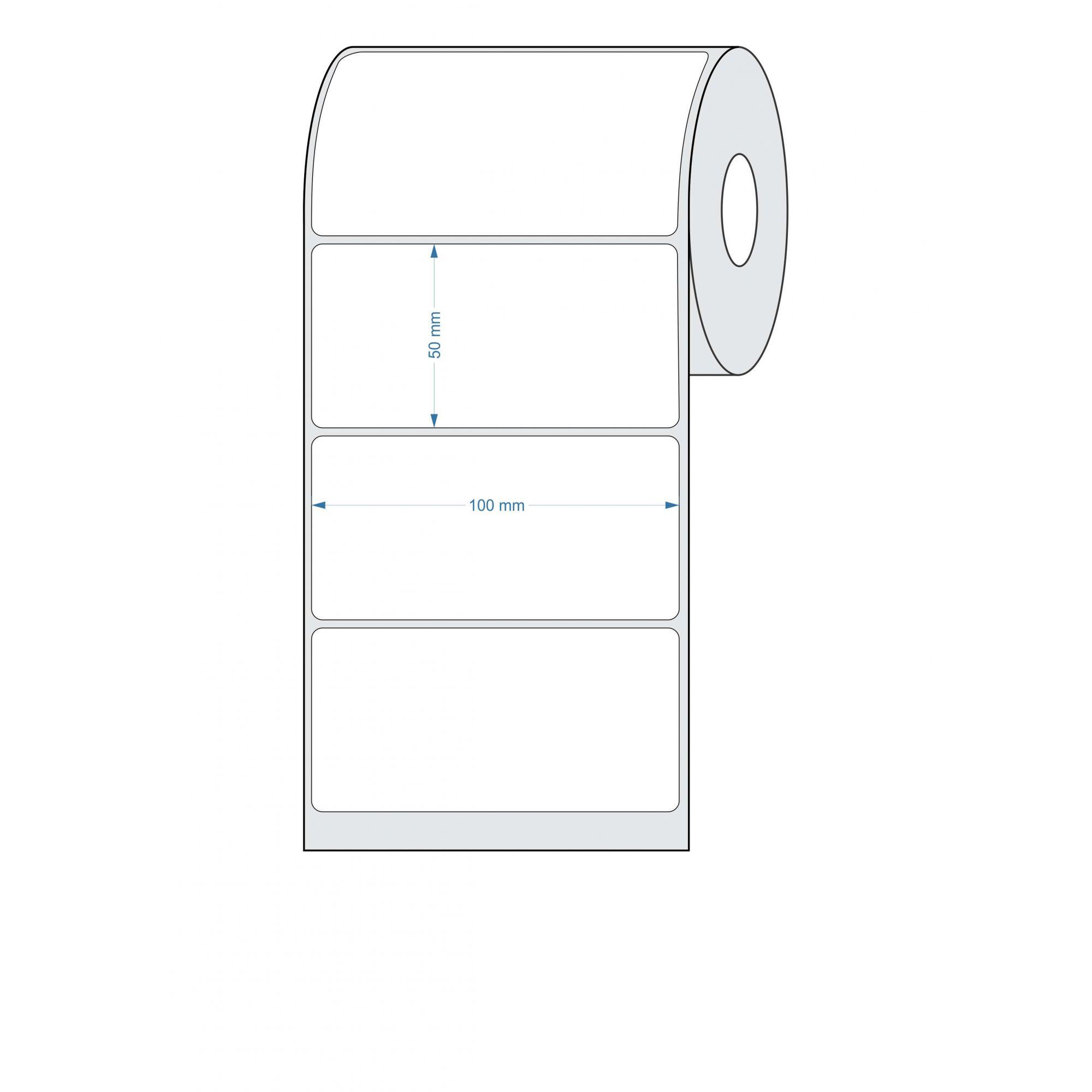 10 Rolos - Etiquetas Adesivas 100x50 mm BOPP FOSCO 32 Metros