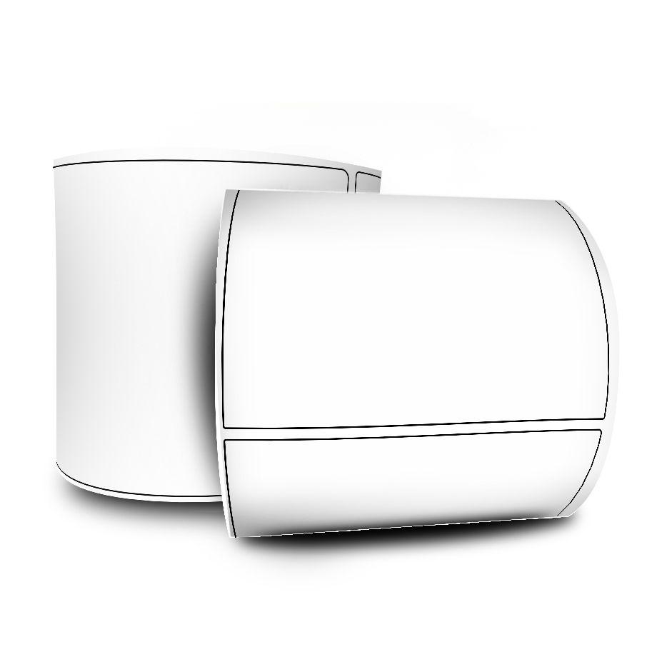 10 Rolos Etiquetas Adesivas 100x70 mm Couchê  + 5 Ribbons Cera