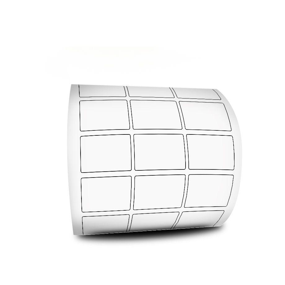 10 Rolos Etiquetas Adesivas 33x22 mm Couchê 3 Colunas Espaçamento