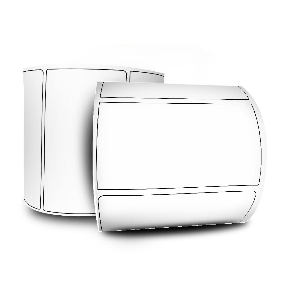 Etiquetas Adesivas Couchê 100x40 Mm - 10 Rolos + 5 Ribbons Cera