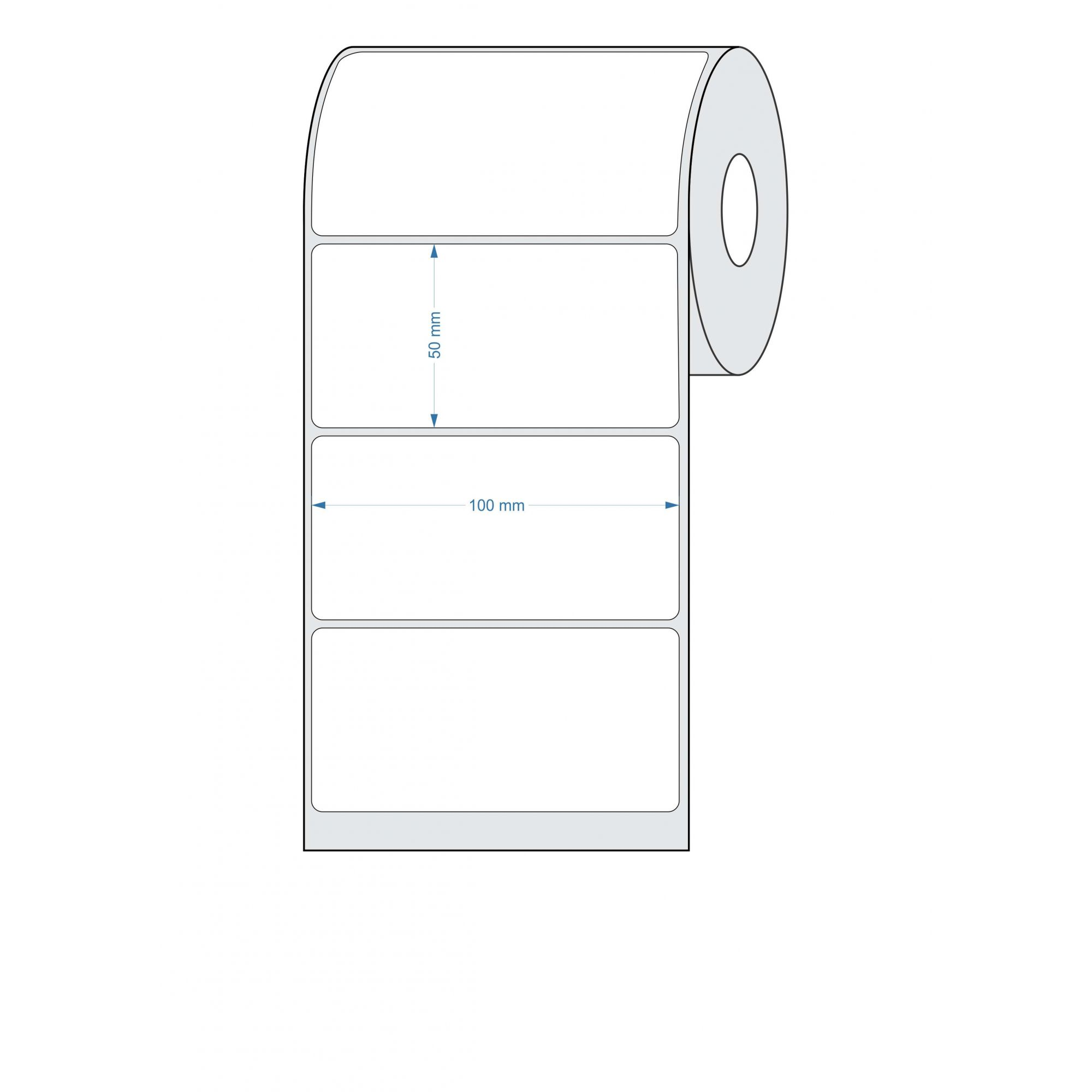 12 Rolos Etiquetas Adesivas Térmica 100x50 Mm 32 Metros