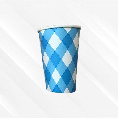Copo de Papel Biodegradável 200 Ml Trançado Azul 30 Un