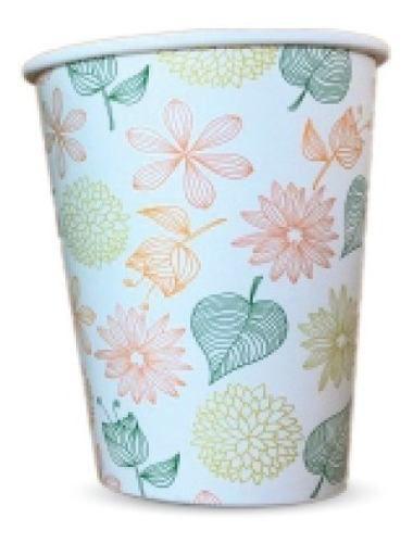 Copo de Papel Biodegradável 200 Ml Floral 30un