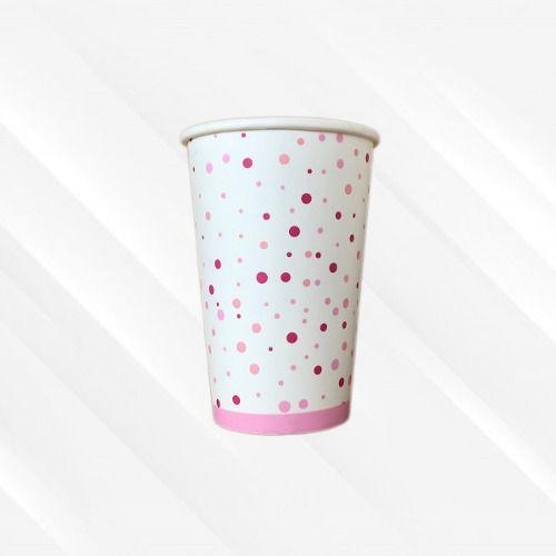 Copo de Papel Biodegradável 330 Ml Bolinha Rosa 30un