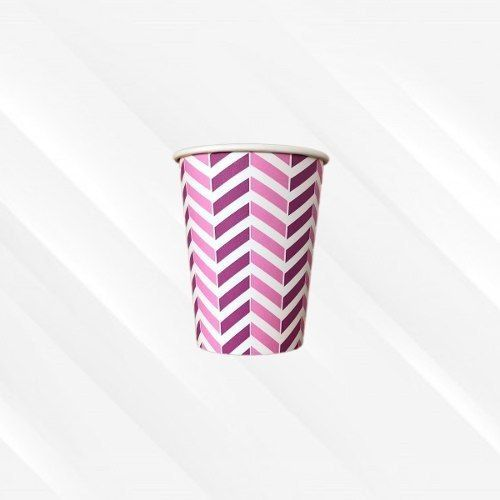 Copo de Papel Biodegradável 200 Ml Chevron Rosa 30un