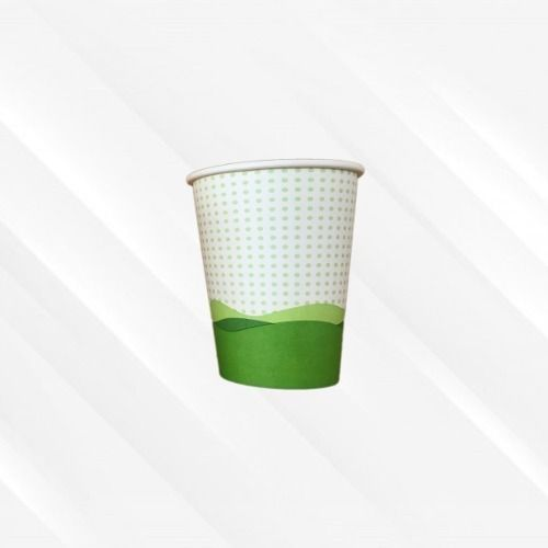 Copo de Papel Biodegradável 200 Ml Onda Mar Verde 30un