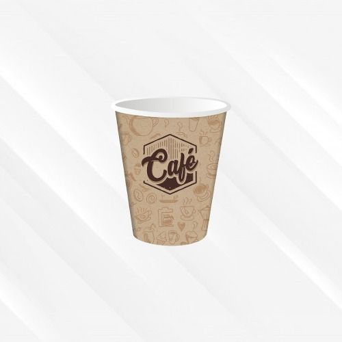 Copo De Papel Biodegradável 200 Ml Café 30un