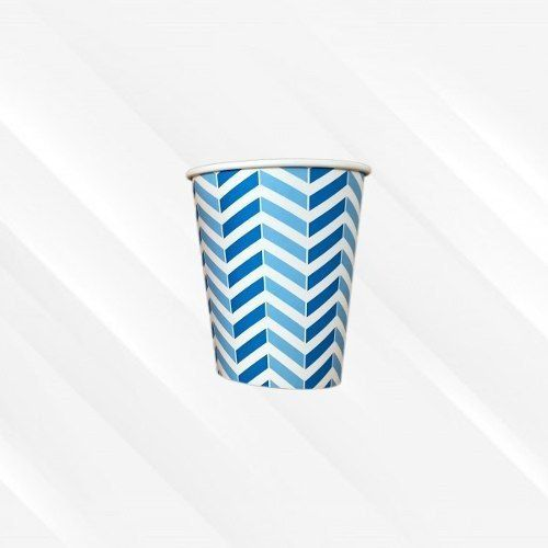 Copo de Papel Biodegradável 200 Ml Chevron Azul 30un