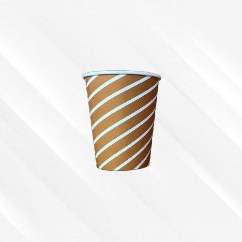 Copo de Papel Biodegradável 200 Ml Listrado Marrom 30un