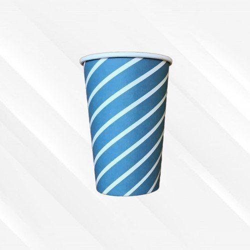 Copo de Papel Biodegradável 200 Ml Listrado Azul 30un