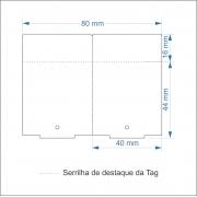 Etiquetas Adesivas Tag 40x60 Mm Couchê 20 Rolos+10 Ribbons Cera 110x74