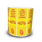 Lacre De Segurança Pizza 105x35 mm Milheiro