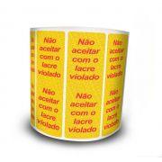 Lacre De Segurança Amarelo 105x35 mm Milheiro