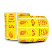 6 Rolos -  Lacre De Segurança Pizza 100x30 mm Milheiro