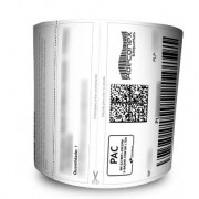 Rolos de Etiquetas Adesivas Mercado Livre com cabeçalho 100x175 Mm Couchê – Milheiro
