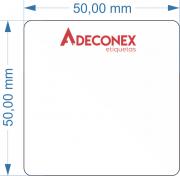 Etiquetas Adesivas Personalizadas quadrada 2 Cores 5cm 10 Rolos