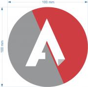 Etiqueta Redonda Etiquetas Adesivas Personalizadas 2 Cores 10cm 10Mil