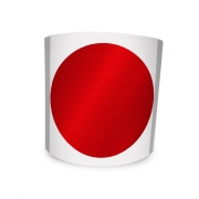 Etiqueta Redonda Adesiva Vermelha Metalizada 4Cm 500un Com Tarja