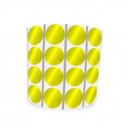 Etiqueta Redonda Metalizada Amarela 1,2Cm 4 Colunas Com Tarja - 1000 un