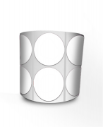 Etiqueta Redonda - Bolinha Branca 4 cm com Tarja