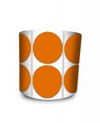 Etiqueta Redonda - Bolinha Laranja 4 cm com Tarja