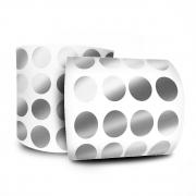 Etiqueta Redonda - Etiquetas Adesivas Bolinha Prata 1,2 cm 1 Milheiro