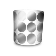 Etiqueta Redonda - Etiquetas Adesivas Bolinha Prata 2 cm 1 Milheiro