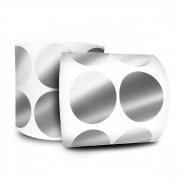 Etiqueta Redonda - Etiquetas Adesivas Bolinha Prata 3 cm 1 Milheiro