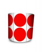 Etiqueta Redonda - Bolinha Vermelha 5 cm com Tarja