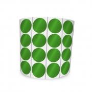 Etiqueta Redonda Verde 2Cm 4 Colunas Com Tarja - 1000 un
