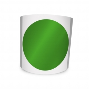 Etiqueta Redonda Verde 6Cm 1 Coluna Com Tarja - 500 un